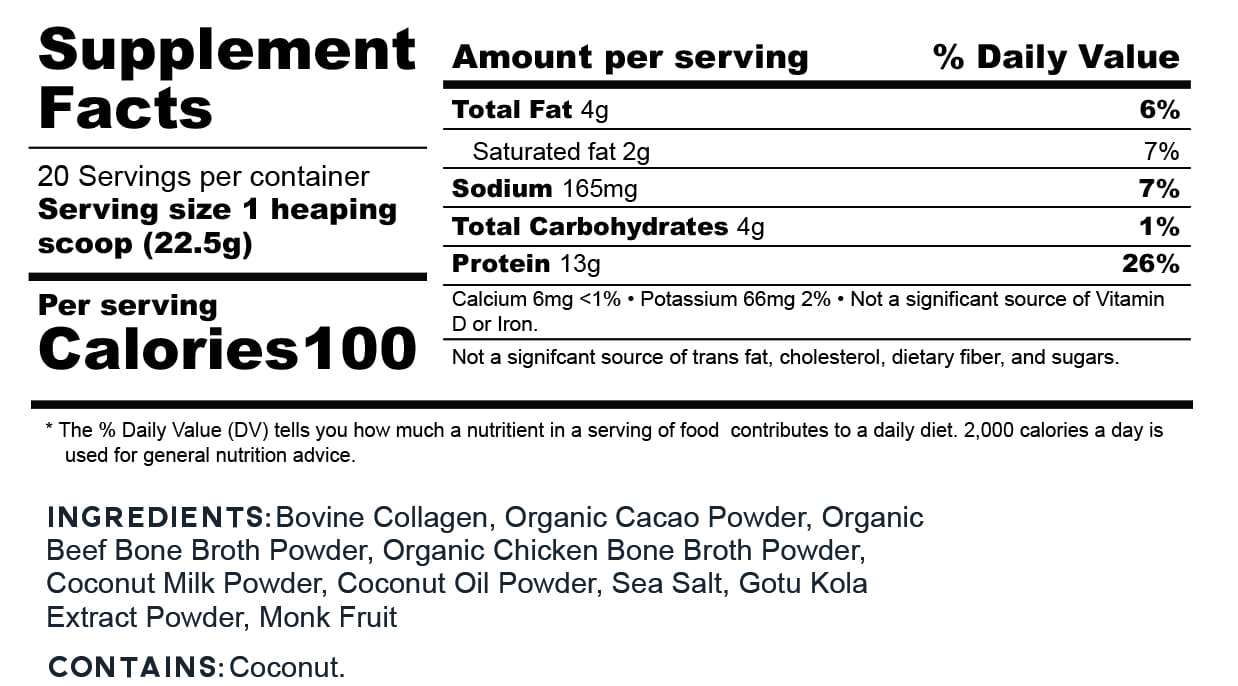 Go2 Protein Nutritional Facts