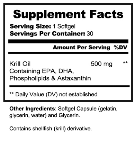 Krill Oil Nutrition Facts