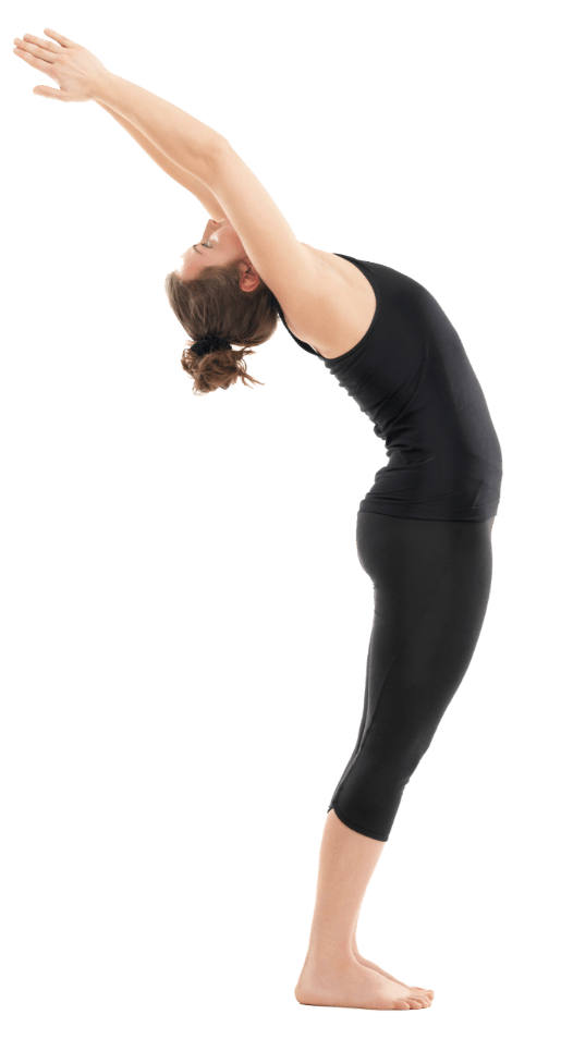 Yoga Girl Stretching